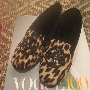 NWT Tory Burch Leopard Billy Loafers!